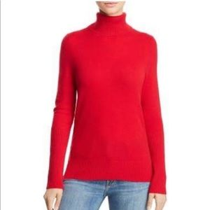 Bloomingdales aqua cashmere turtleneck sweater